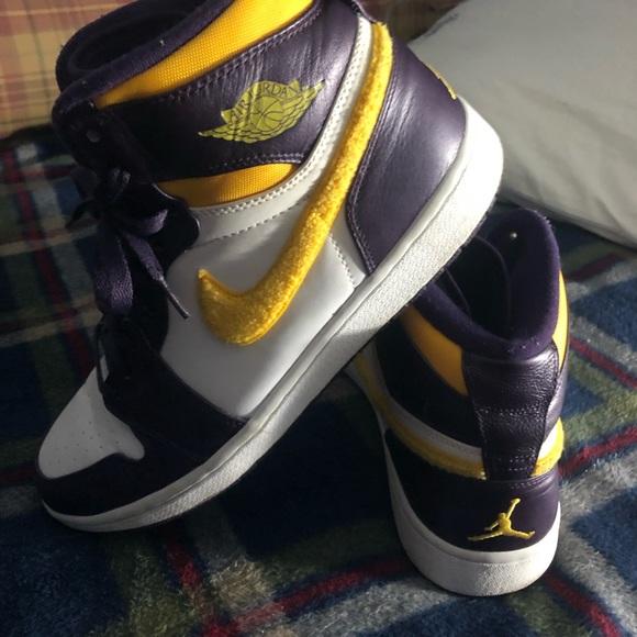f5bc49e4380 Jordan Shoes | 1985 High Air 1s Laker Color Way | Poshmark